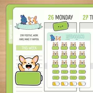 Full Battery Planner Stickers