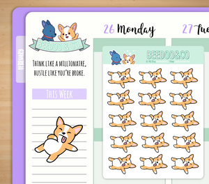 Hand Drawn Full Belly Planner Stickers