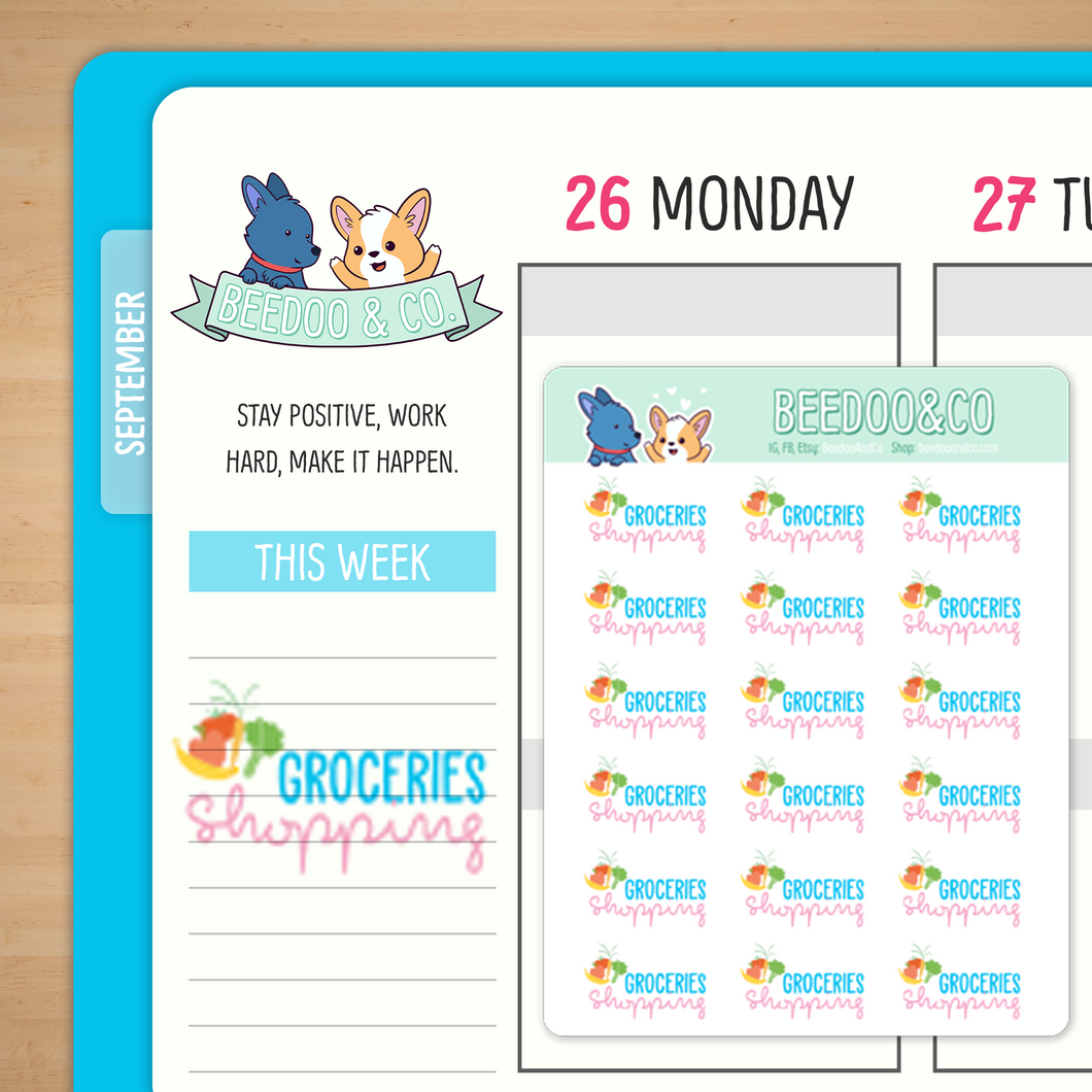 Groceries Shopping Planner Stickers
