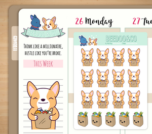 Hand Drawn Grocery Planner Stickers