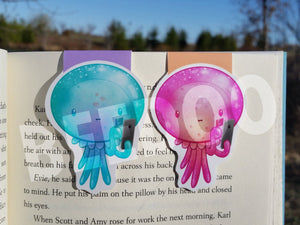 Sea Creatures Magnetic Bookmarks