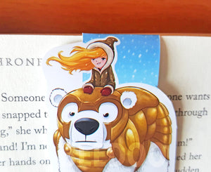 Polar Bear And Girl Magnetic Bookmark