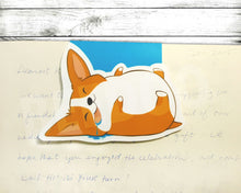 Load image into Gallery viewer, Cute little sleeping corgi bookmark