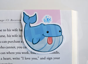 Blue Whale Magnetic Bookmark