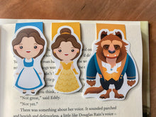 Load image into Gallery viewer, Beauty and Beast Magnetic Bookmarks Set