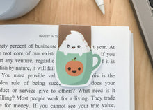 Load image into Gallery viewer, Pumpkin Spice Latte Magnetic Bookmark