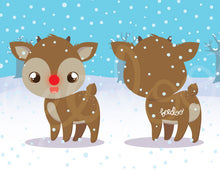 Load image into Gallery viewer, Rudolph The Red Nosed Reindeer  Magnetic Bookmark