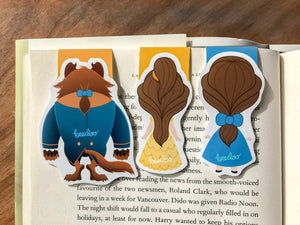 Beauty and Beast Magnetic Bookmarks Set