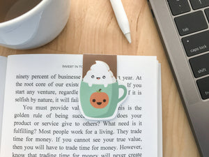 Pumpkin Spice Latte Magnetic Bookmark