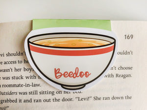 Miso Soup Magnetic Bookmark