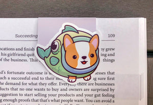 Fish Corgi Magnetic Bookmark