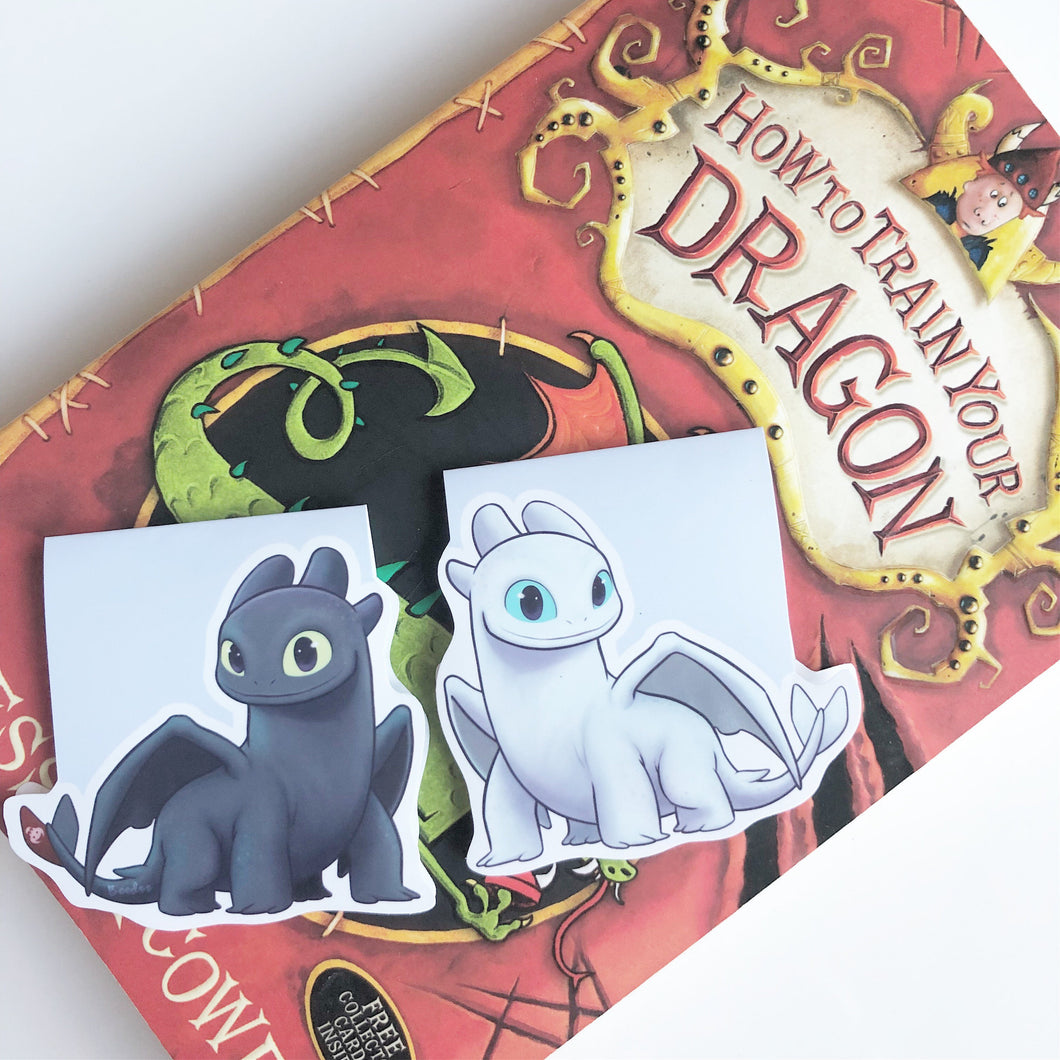 Toothless and Light Fury Magnetic Bookmark