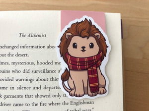 Brave Lion Magnetic Bookmark