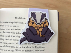Friendly Badger Magnetic Bookmark