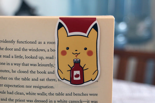 Ketchup Yellow Mouse Magnetic Bookmark