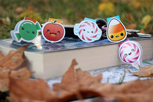 Sweet tooth magnetic bookmarks set