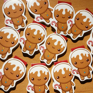 Gingerbread Man Magnetic Bookmark