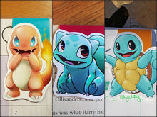Load image into Gallery viewer, Pocket Monster Original Starters Magnetic Bookmark Set