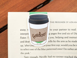 Cute Coffee Paper Cup Magnetic Bookmark