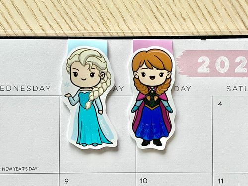 Frozen Elsa and Anna Magnetic Bookmark