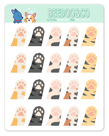 Kitty Toe Beans Planner Stickers