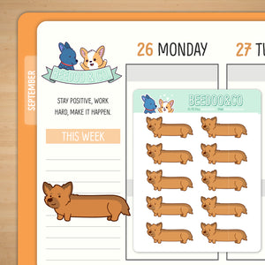 Long Dog Planner Stickers