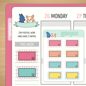 Doodle Box Planner Stickers