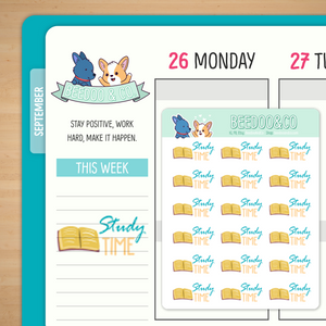 Study Time Planner Stickers