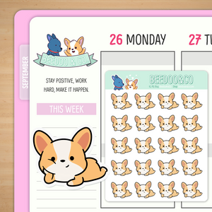 Tell me more Corgi Planner Stickers