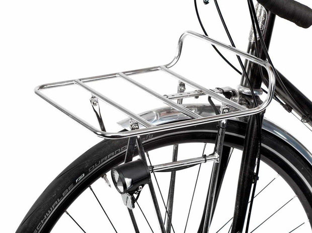Commuter front rack chroom medium op fiets