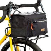 Commuter front rack zwart large met tas