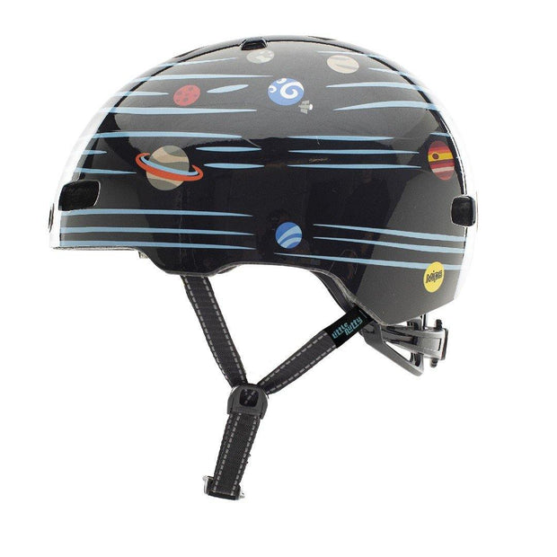 Nutcase Little Nutty Defy Gravity Reflective MIPS Helm XS zijaanzicht