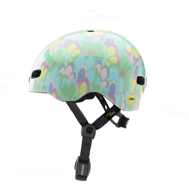 Nutcase Baby Nutty Pedal to Metal Gloss MIPS Helm XXS zijkant