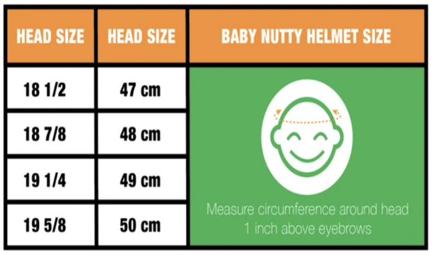 Nutcase Baby Nutty Pedal to Metal Gloss MIPS Helm XXS maattabel