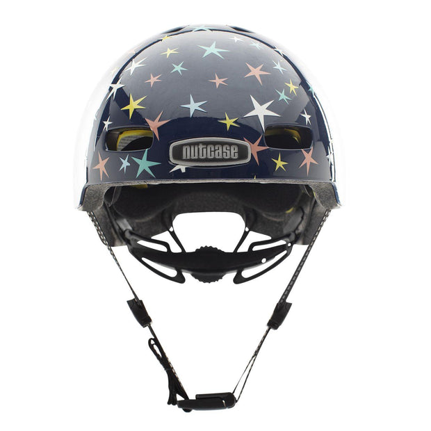 Nutcase Little Nutty Stars are Born Gloss MIPS Helm Small voorzijde met kinband