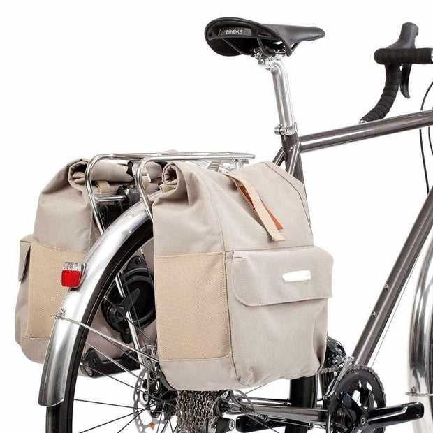 Commuter rear rack chroom zijtassen