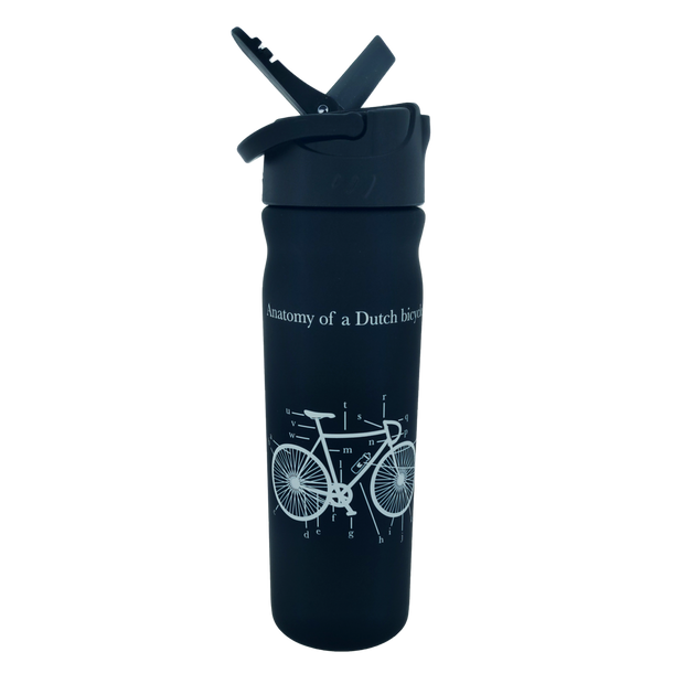 Drinkfles Dutchies Black Bicycle 500 ml - Florismoo Essentials & Mobility