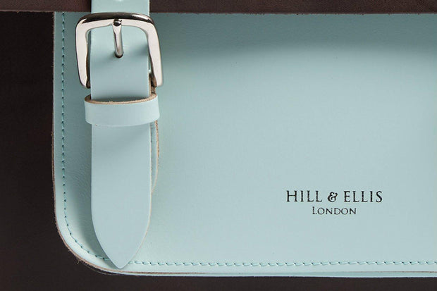 Hill & Ellis Don bruin/mint lederen fietstas - Florismoo Essentials & Mobility