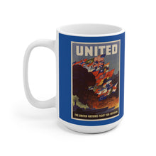 Load image into Gallery viewer, Axis and Allies United Blue Ceramic Mug
