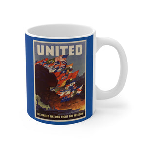 Axis and Allies United Blue Ceramic Mug