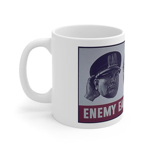 The Axis are Listening American World War 2 Propoganda White Ceramic Mug