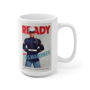 US Marines Vintage Recruitment Poster Ceramic Mug