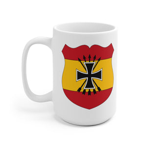 Spanish Blue Division | WWII Vintage | White Ceramic Mug | Axis and Allies | Deans Army Guys