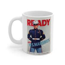 Load image into Gallery viewer, US Marines Vintage Recruitment Poster Ceramic Mug
