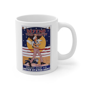 American Army Recruitment Poster White Ceramic Mug