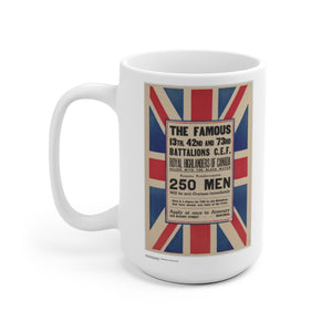Canadian Army Vintage Recruitment Poster Ceramic Mug