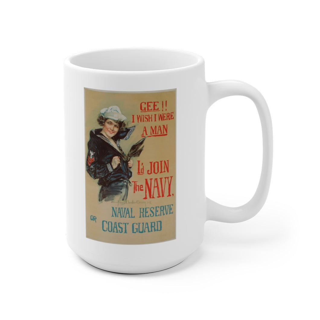 US Navy Vintage Recruitment Poster Ceramic Mug