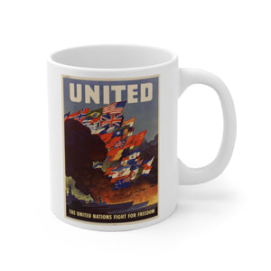 Axis and Allies United White Ceramic Mug