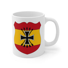 Load image into Gallery viewer, Spanish Blue Division | WWII Vintage | White Ceramic Mug | Axis and Allies | Deans Army Guys