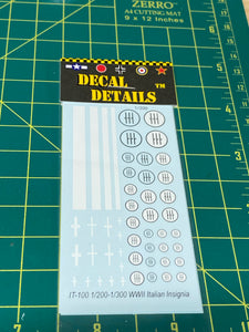Decals- WW2 Italian Insignia | IT-100 | Axis and Allies